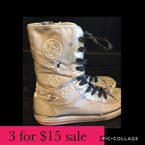 Other - Sparkly cheetah-print high top sneakers